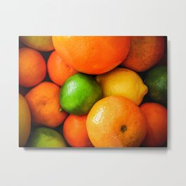 Oranges Lemons & Limes Metal Print