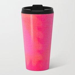 Art abstract pink blue Travel Mug