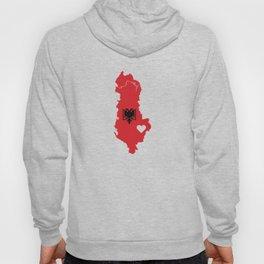 Love Albania Gift Albanian Pride Heart Hoody