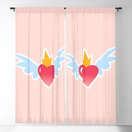 FLUTTERING HEART Blackout Curtain