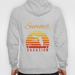 Summer Vacation Florida Miami Beach Holiday Retro Vintage Hoody