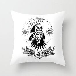 Garden Reaper Throw Pillow