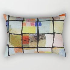 whale in reassembled color squares Rectangular Pillow