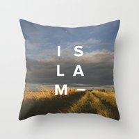 islam Throw Pillows featuring Islam- Poster by Canvas Dawah