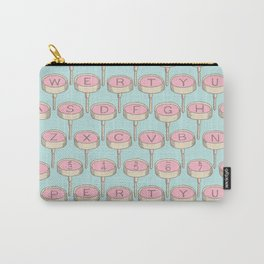 Infinite Typewriter_Blue Sky and Pink Carry-All Pouch