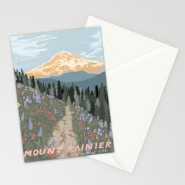 Mount Rainier National Park Stationery Cards