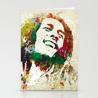 reggae Stationery Cards featuring Reggae Music Man by Gary Grayson
