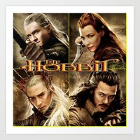 hobbit Art Prints featuring Hobbit by custompro