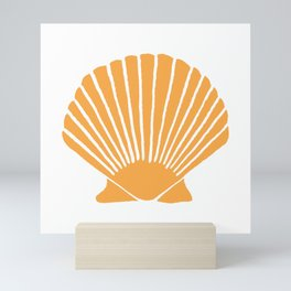 Light Orange Seashell Mini Art Print