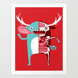 All monsters are the same! Art Print