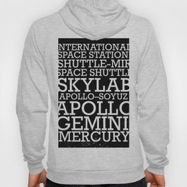 Manned Space Missions print. Hoody