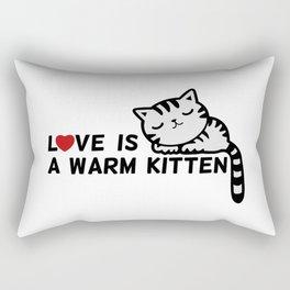 Love is a Warm Kitten Rectangular Pillow
