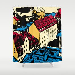 Old roofs of the European city Shower Curtain