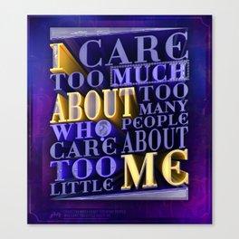 Quote Design (Clean Version) Canvas Print