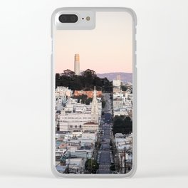 Coit Tower at Twilight Clear iPhone Case
