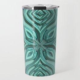 Metallic Engraved Ornament Travel Mug