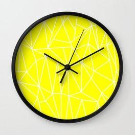 Geometric Cobweb (White & Yellow Pattern) Wall Clock
