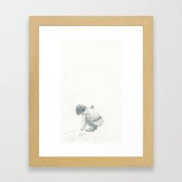 Sidewalk Kid Framed Art Print