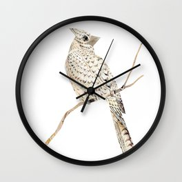 Winter Cardinal, collage Wall Clock