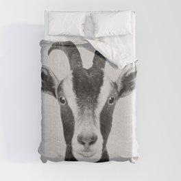 Goat - Black & White Duvet Cover