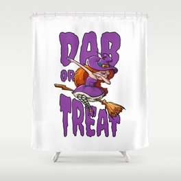 Halloween Dab Dabbing Witch Shower Curtain