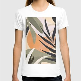 Abstract Art Tropical Leaves 2 T-shirt