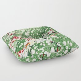 Marbled Green Bubbles Floor Pillow