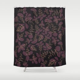 purpur // purple branches, delicate flowers Shower Curtain