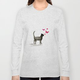 I Love Cats No. 3a by Kathy Morton Stanion Long Sleeve T-shirt