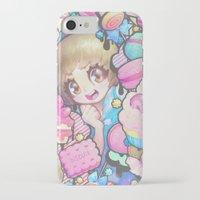 barachan iPhone & iPod Cases featuring makokashi by barachan