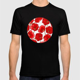 cute red poppies T-shirt