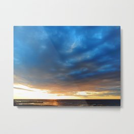 Heavy Cloud Over the Setting Sun Metal Print