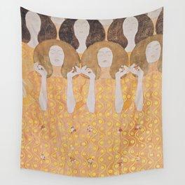 Gustav Klimt - Choir of Angels (Chor Der Paradiesengel) Wall Tapestry