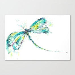 Watercolor Dragonfly Canvas Print