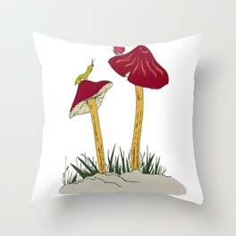 beautifull art drawing Throw Pillow