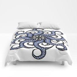 Reverse in blue Comforters