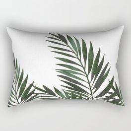 Palm Leaves Green Rectangular Pillow