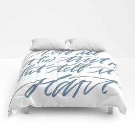 Emily Dickinson (Calligraphy) Comforters