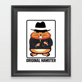 Armed Hampster - Funny Animals Framed Art Print