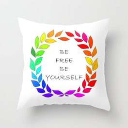 Freedom to be yourself, LGBT concept. Art. Throw Pillow