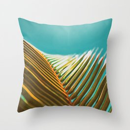 Palm Leaf in Detail Throw Pillow
