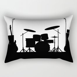 Rock Band Equipment Silhouette Rectangular Pillow