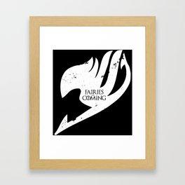 Fairies is Comig Framed Art Print