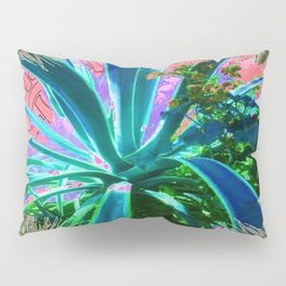 PEACOCK NATURE CORAL-BLUE GARDEN ART Pillow Sham