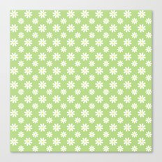 Daisies on Green Canvas Print