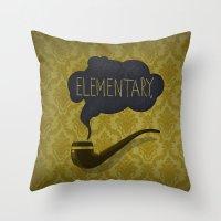 sherlock Throw Pillows featuring sherlock by serbangabriel