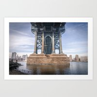dumbo Art Prints featuring DUMBO by MikeMartelli
