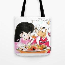Inuyasha and Kagome Hotpot Tote Bag