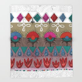 the rhyme of repetitive elements - fire, water, flower, air Throw Blanket