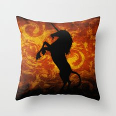 Dark Unicorn II Throw Pillow